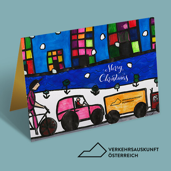 Weihnachtskarte Verkehrsauskunft Österreich