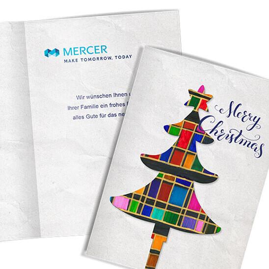 Weihnachtskarte Mercer