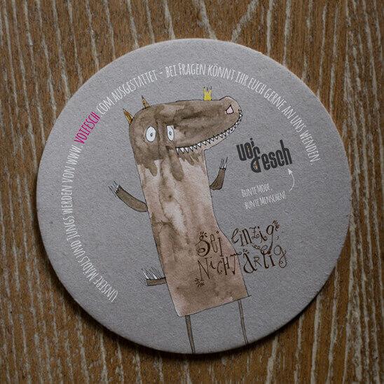 Bierdeckel mit Motiv Drachenkönig