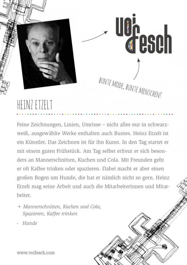 Künstlerkarte Heinz Etzelt
