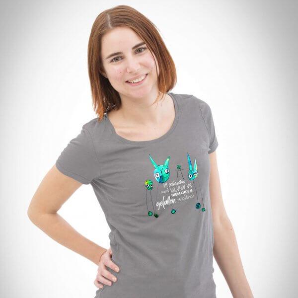 Wahre Schönheit Damen T-Shirt Heather Grey
