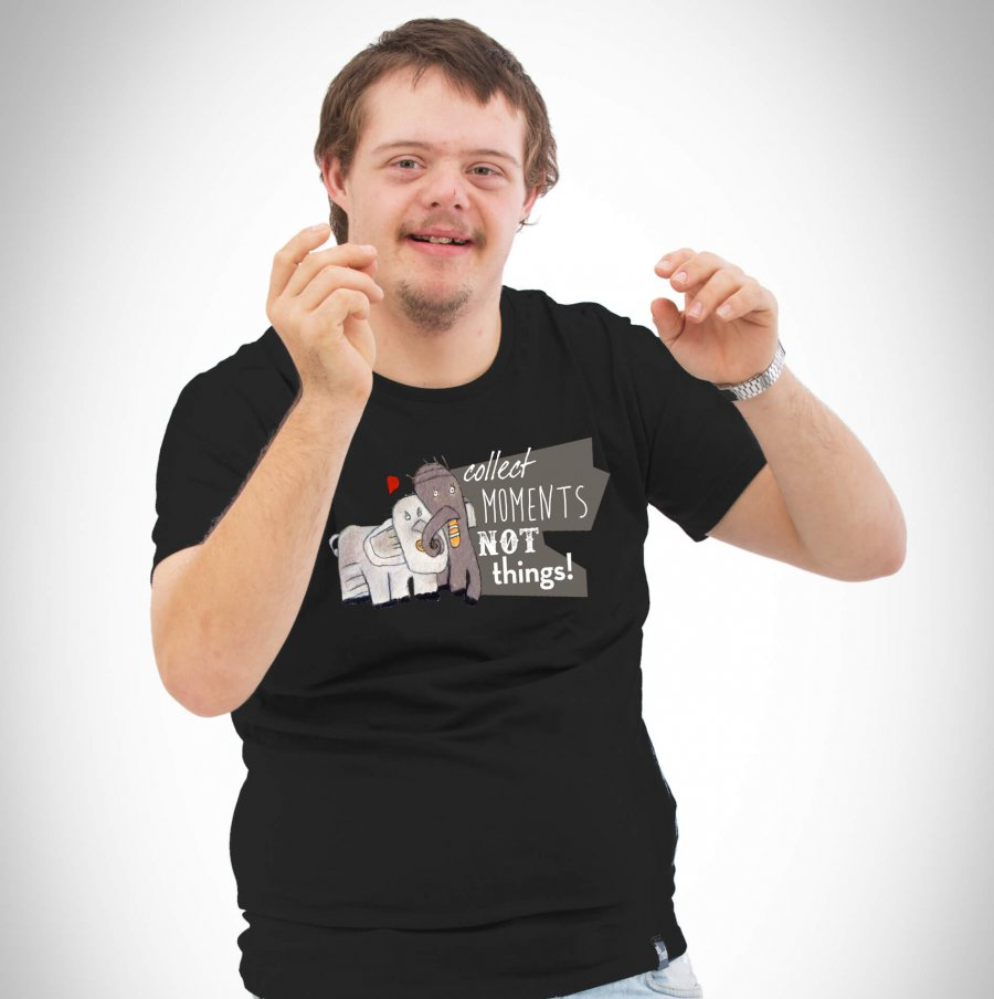 Elefantenliebe Herren T-Shirt schwarz
