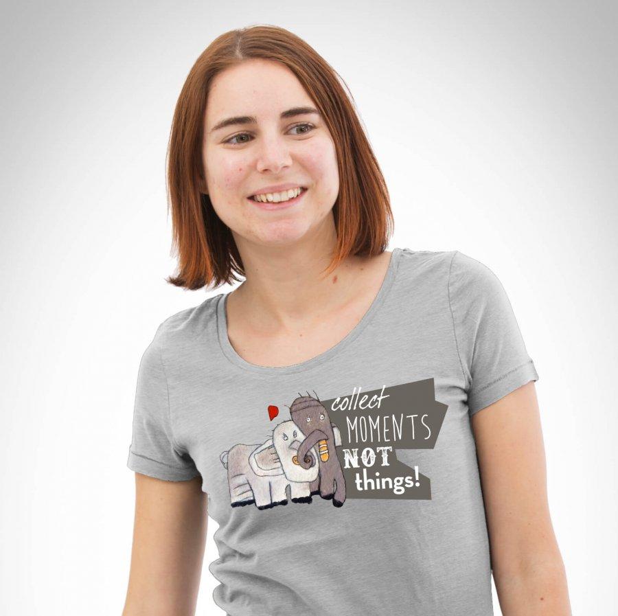 Elefantenliebe T-Shirt heathergrey Damen