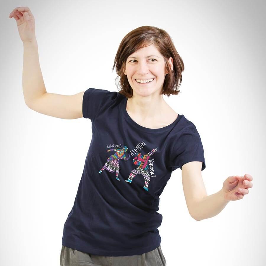 Tanz das Leben Damen T-Shirt french navy