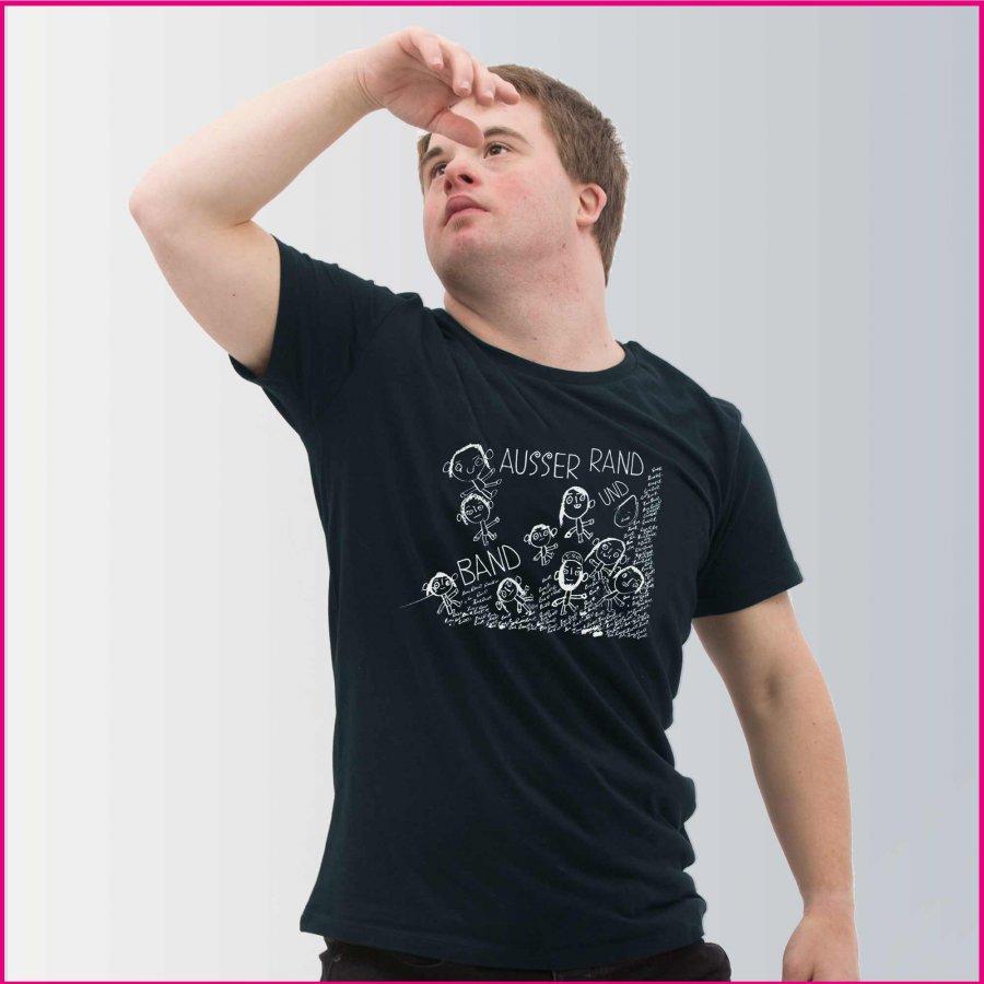 Produktfoto Männer T-Shirt mit dem Motiv Rasselband von Florin Asei