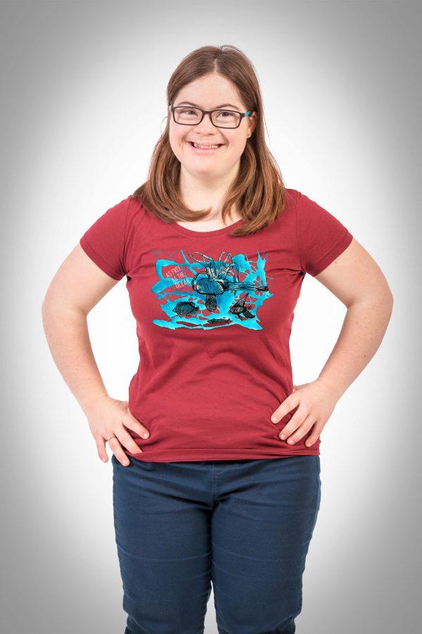 Unterwasser Damen T-Shirt burdungy