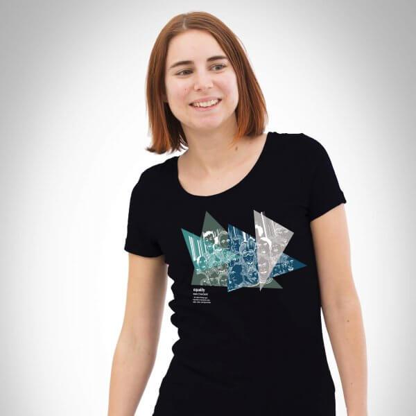 Equality black Damen T-Shirt