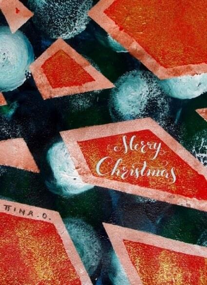 Abstrakte Weihnachten