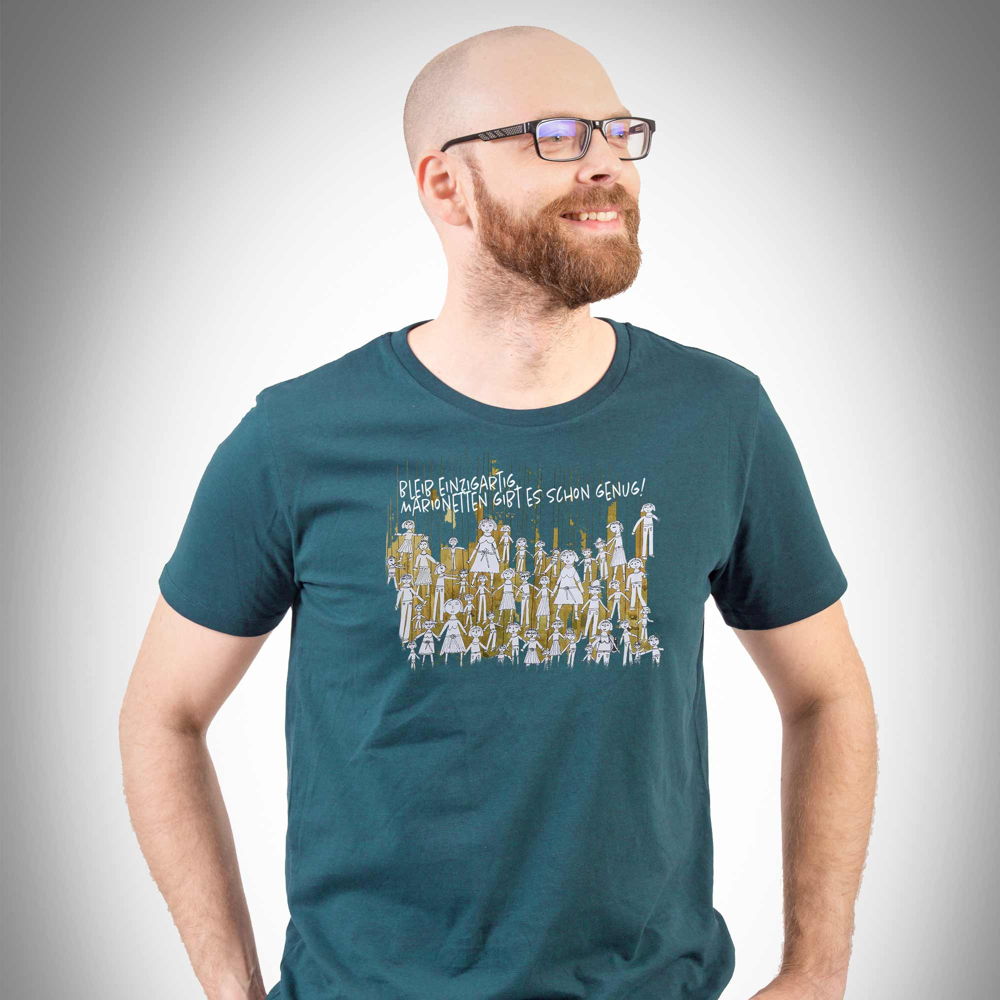 Herren T-Shirt Marionettenspiel stargazer