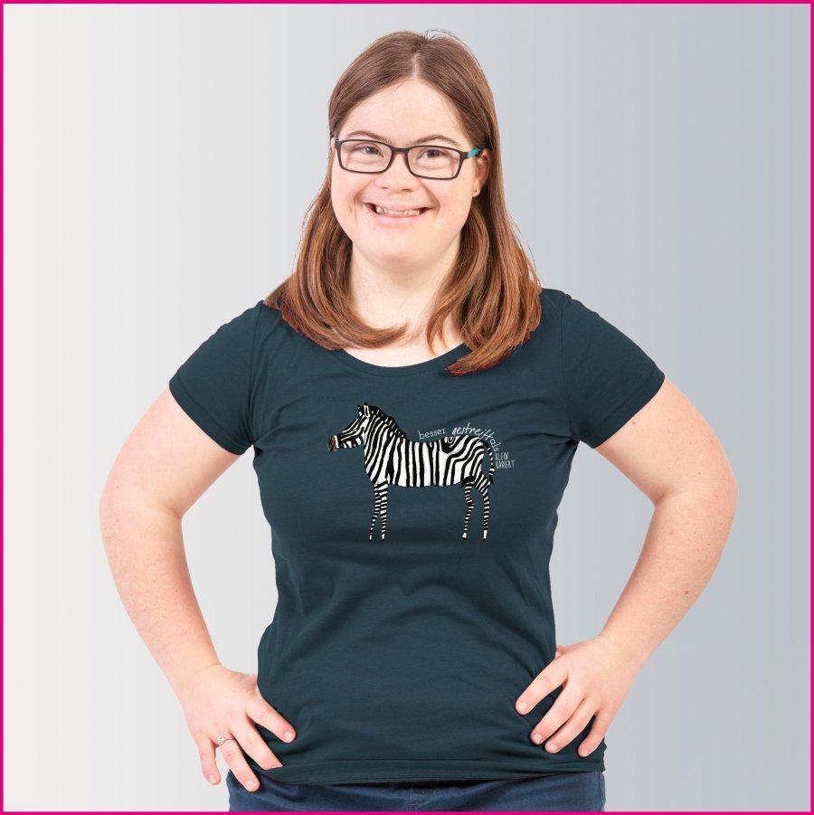 Produktfoto Frauen T-Shirt mit dem Motiv Josef das Zebra von Albert Masser
