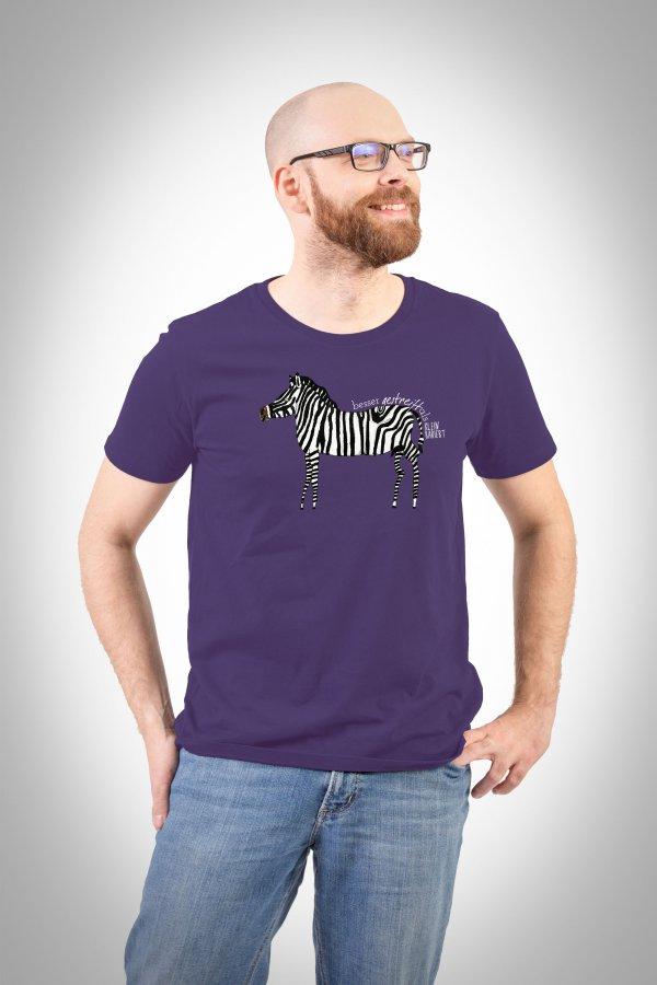 Zebra herren T-Shirt plum