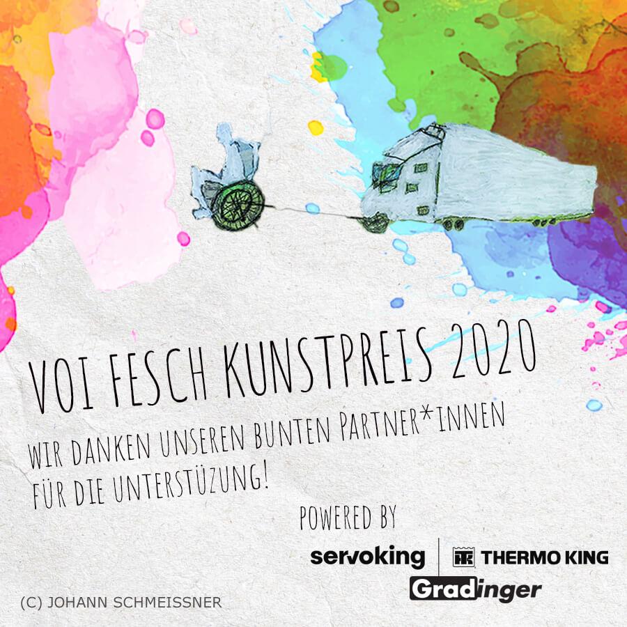 VOI fesch Kunstpreis 2020 Wir danken unseren bunten Partner*innen für die Untersützung