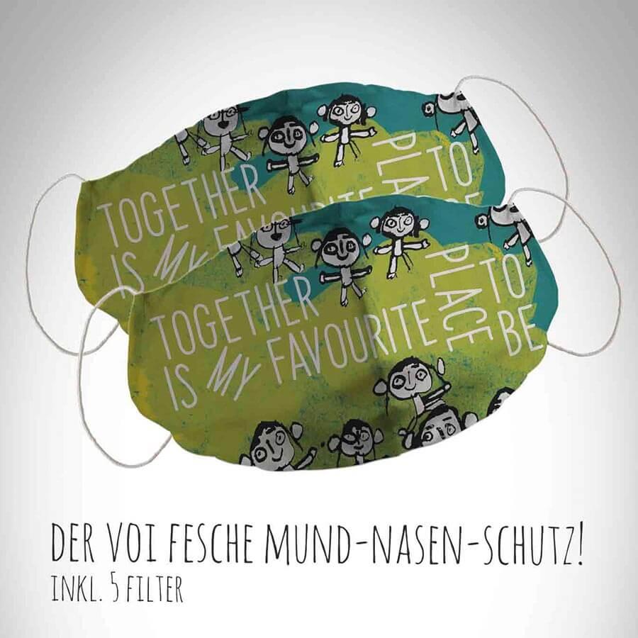 Together Mund-Nasen-Schutz