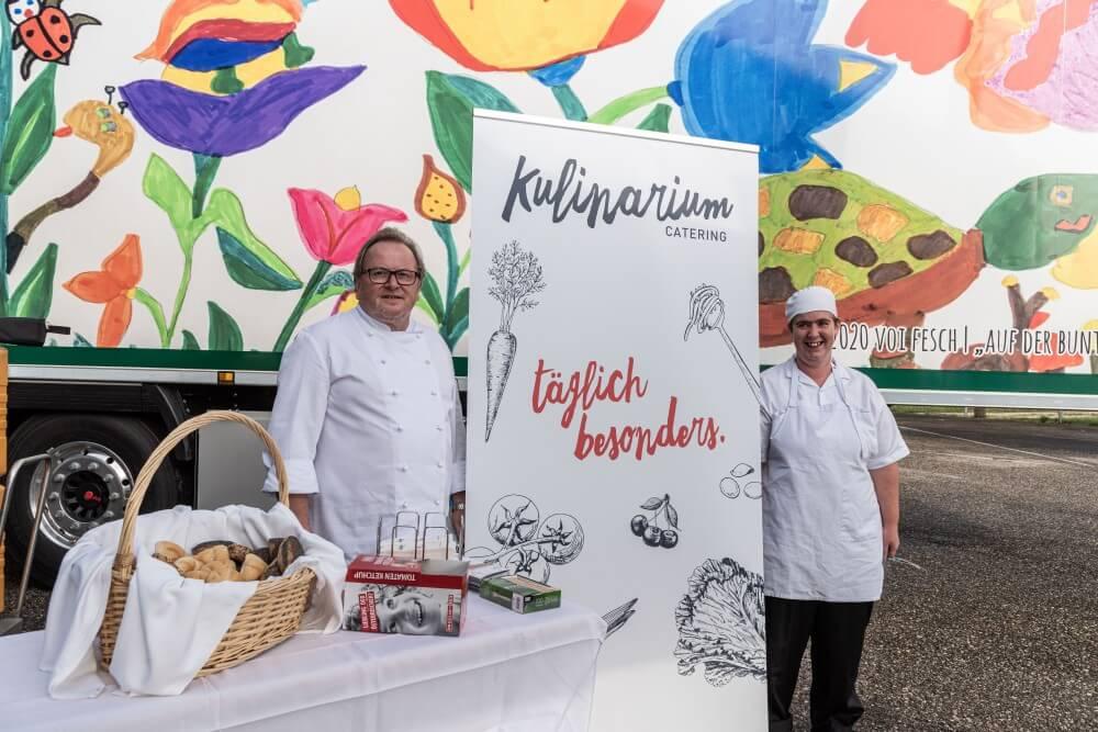 2 Mitarbeiter vom Kulinarium Catering des Diakoniewerk