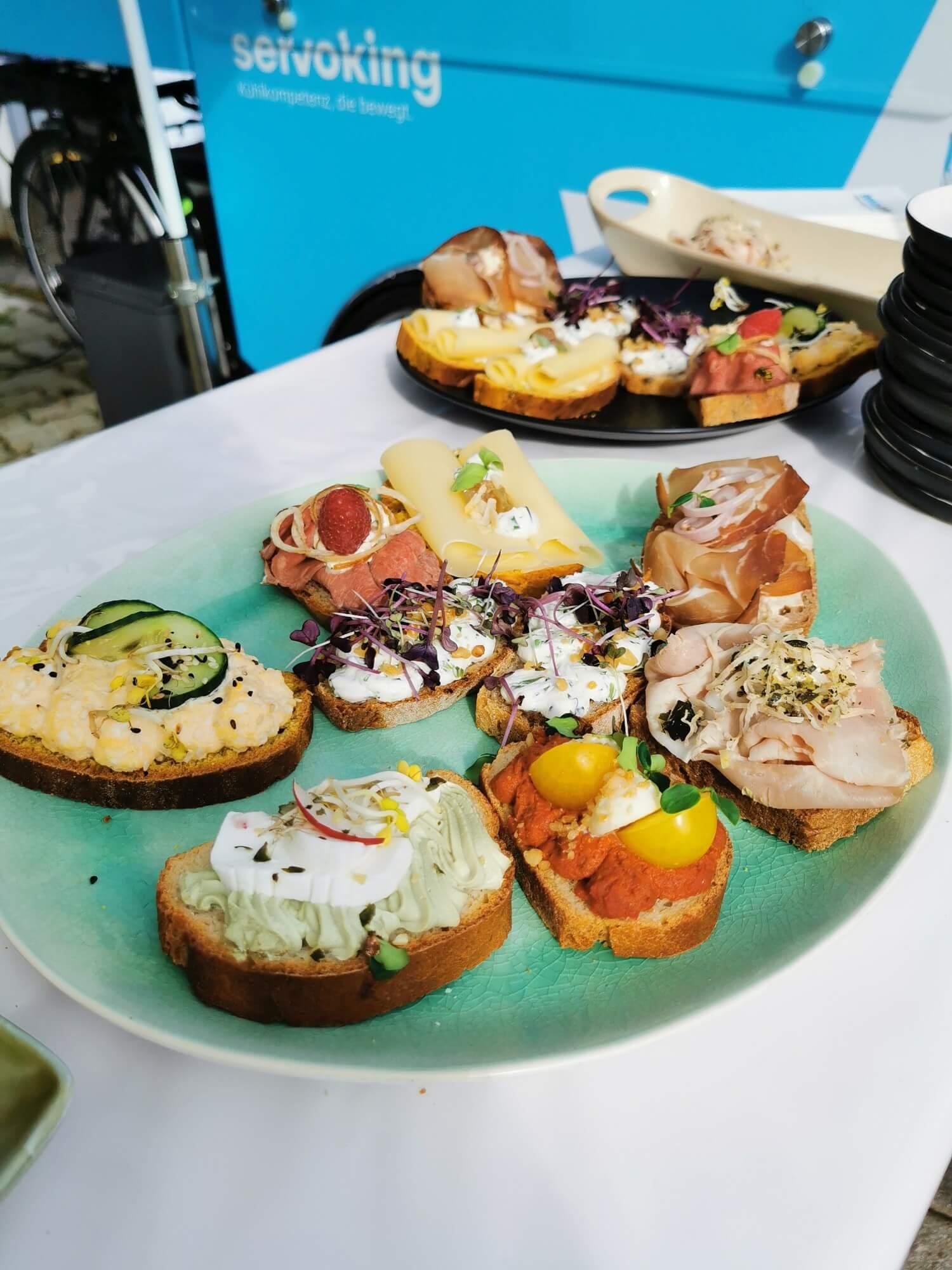 Leckere Brötchen von Velvet Catering