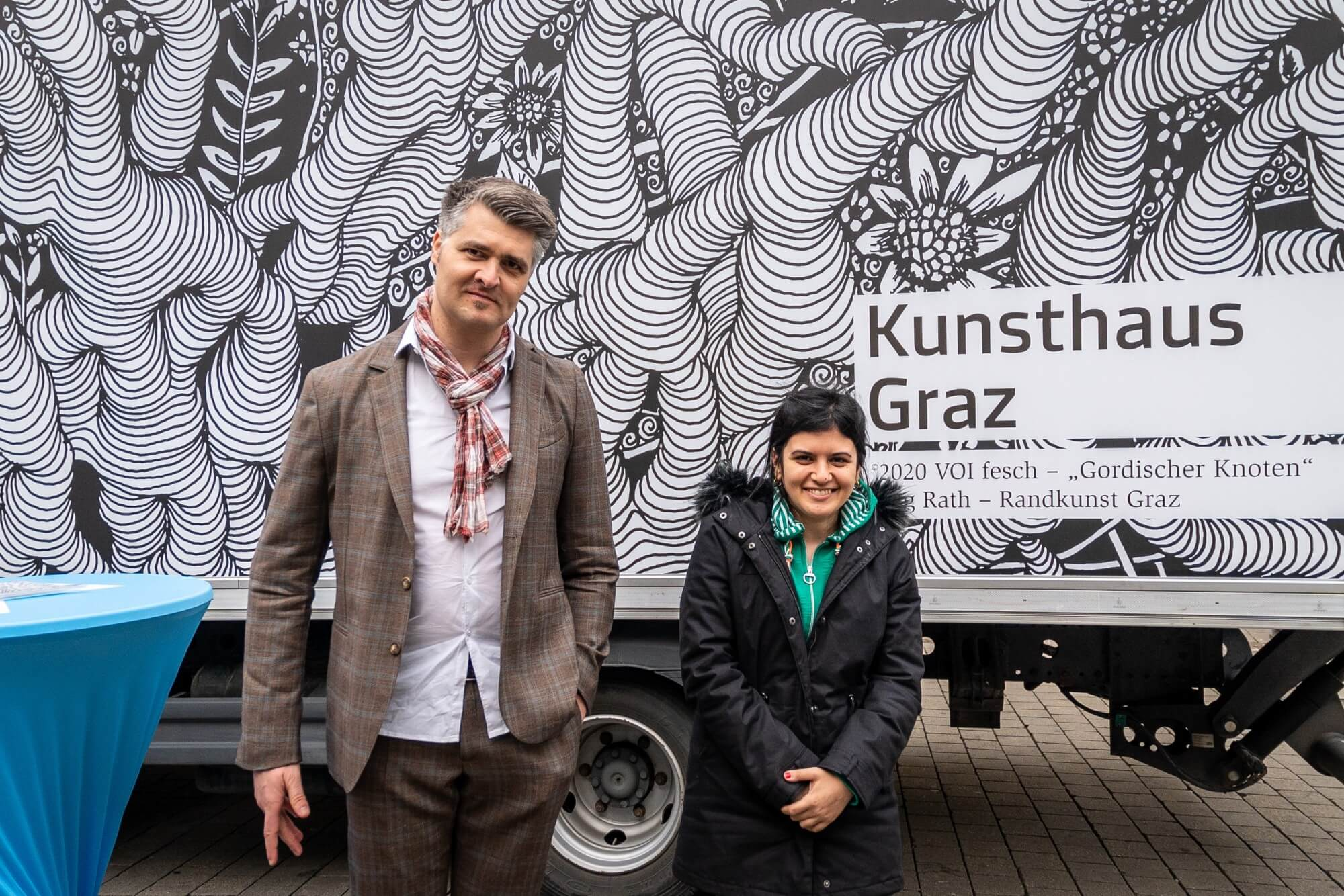 Künstler Jörg Rath und Künstlerin Juka Abdilwahid