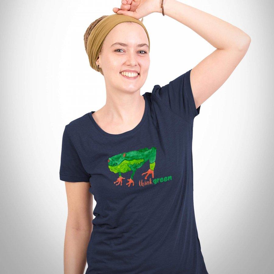 "Damenshirt mit dem Motiv ""Think green"""