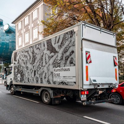 KunstLKW gestaltet von Jörg Rath