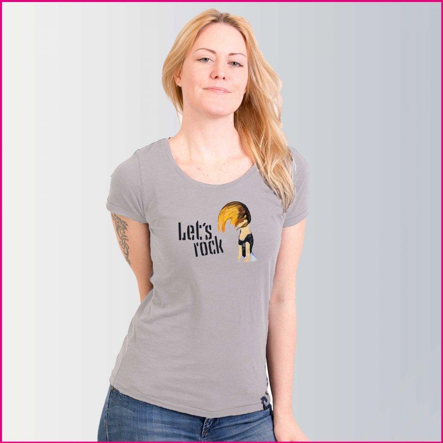 Produktfoto Frauen T-Shirt mit dem Motiv Let's rock von Iris Kopera