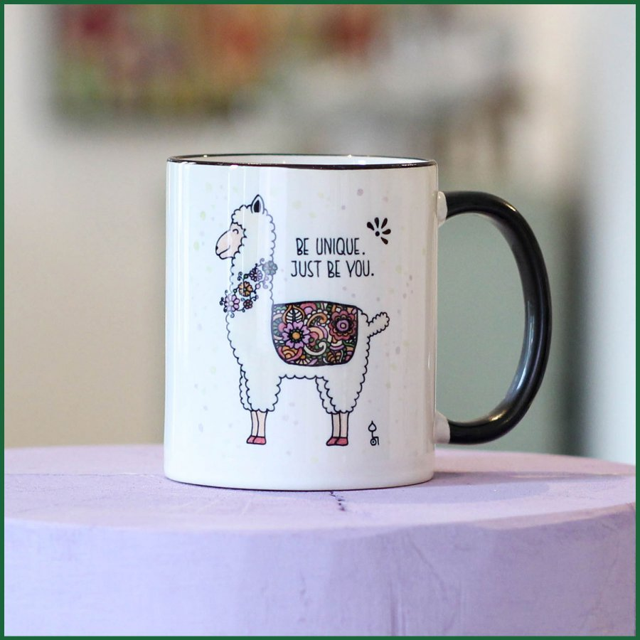 RollinArt Tasse mit dem Motiv Alpaka