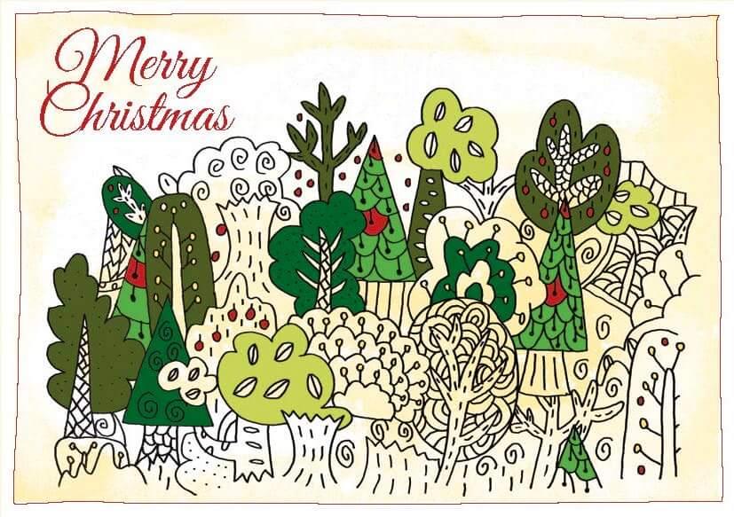 """Weihnachtsmotiv """"Tannenwald"""" von Konrad Wartbichler"""
