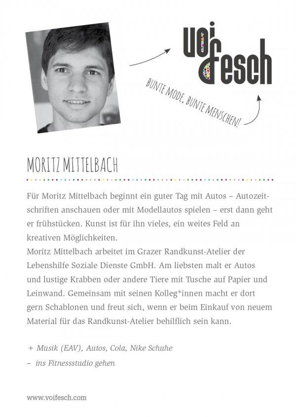 VOI fesch Künstlerkarte von Moritz Mittelbach